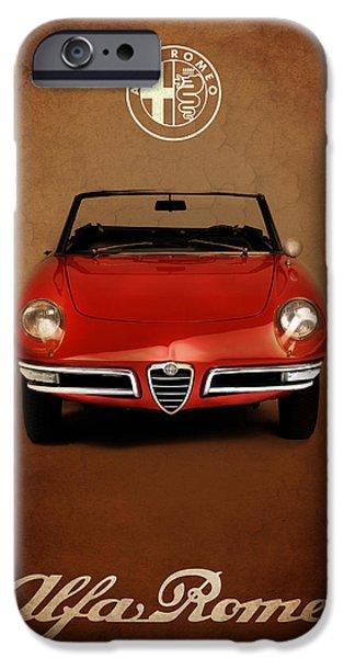Alfa Romeo iPhone Cases - Alfa Romeo Spider iPhone Case by Mark Rogan
