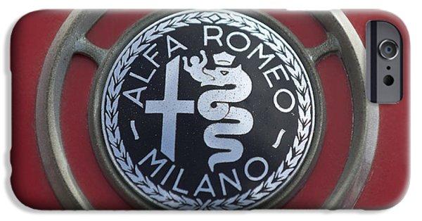 Sprint iPhone Cases - 1961 Alfa Romeo Giulietta Sprint Veloce Series II Emblem -1045c iPhone Case by Jill Reger
