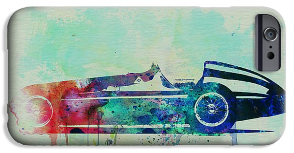 Automotive Drawings iPhone Cases - Alfa Romeo Tipo Watercolor iPhone Case by Naxart Studio