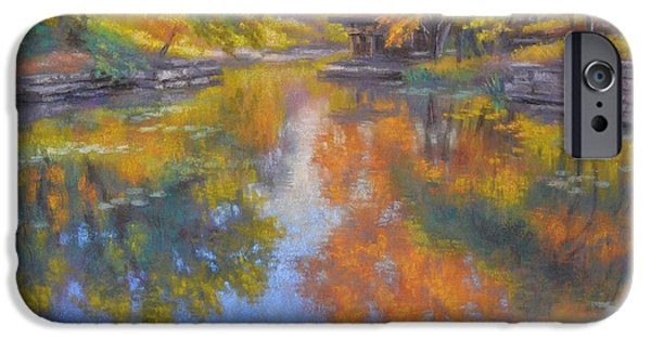 Aquatic Pastels iPhone Cases - Alfred Caldwell Lily Pool 1 iPhone Case by Fiona Craig