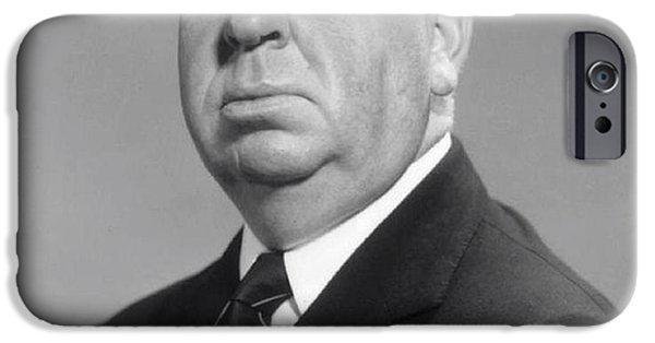 Film Maker iPhone Cases - Alfred Hitchcock iPhone Case by Daniel Hagerman