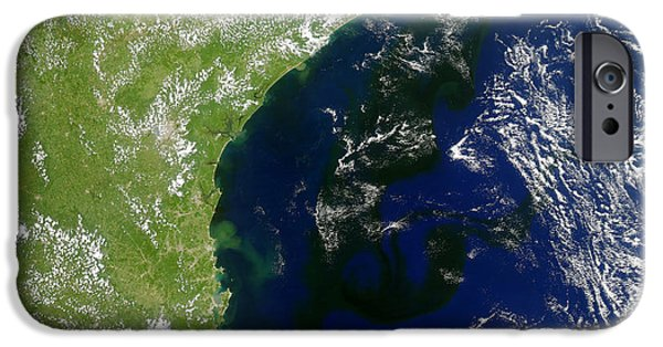 Algal Photographs iPhone Cases - Algal Bloom Off Brazil Coast iPhone Case by Science Source