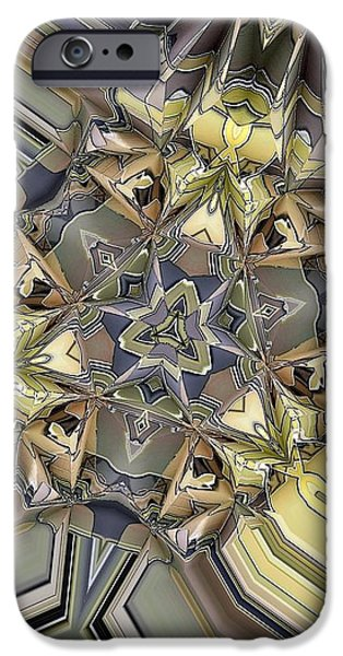 Algorithmic Digital Art iPhone Cases - Algorithmic 1 iPhone Case by Ron Bissett
