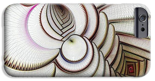 Curve iPhone Cases - Algorithmic Art iPhone Case by Anastasiya Malakhova