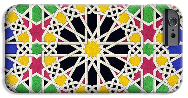 Mosaic iPhone Cases - Alhambra Mosaic iPhone Case by James Cavanagh Murphy