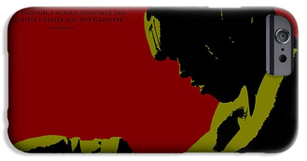 Boxer Digital Art iPhone Cases - Ali I am The Greatest iPhone Case by Brian Reaves