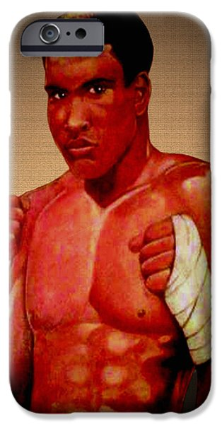 Champ Boxer iPhone Cases - Ali iPhone Case by Victor Carrington
