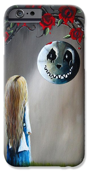 Best Sellers -  - Alice In Wonderland iPhone Cases - Alice In Wonderland Original Artwork - Alice And The Beautiful Nightmare iPhone Case by Shawna Erback