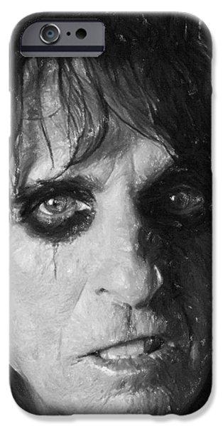 Alice Cooper iPhone Case by Antony McAulay