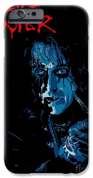 Alice Cooper iPhone Case by Caio Caldas