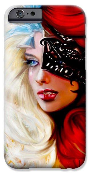 Alice In Wonderland Mixed Media iPhone Cases - Goodbye Alice in Wonderland The Mask iPhone Case by Jaimy Mokos