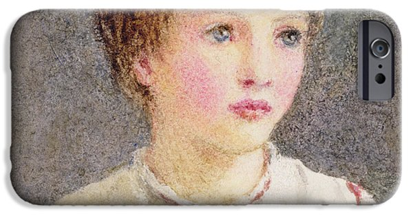 Lips iPhone Cases - Alice iPhone Case by Helen Allingham