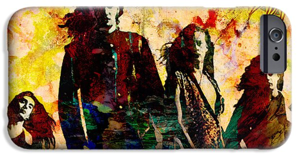 Rock N Roll Paintings iPhone Cases - Alice In Chains Original Painting Print iPhone Case by Ryan RockChromatic