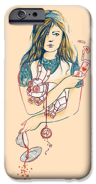 Alice iPhone Cases - Alice in Mechaland iPhone Case by Budi Kwan