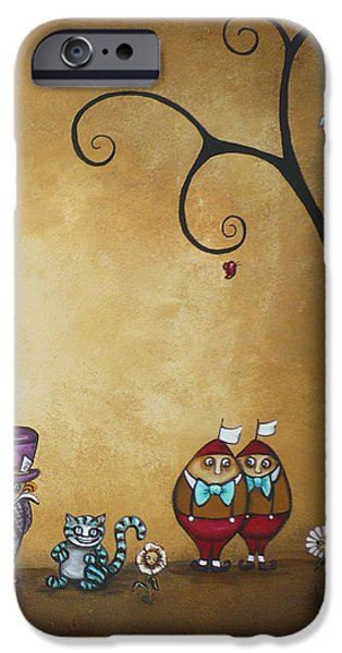 Best Sellers -  - Mad Hatter iPhone Cases - Alice in Wonderland Art - Encore - II iPhone Case by Charlene Zatloukal