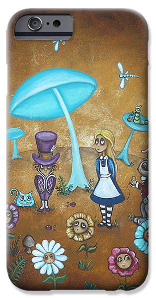Alice in Wonderland - In Wonder iPhone Case by Charlene Murray Zatloukal