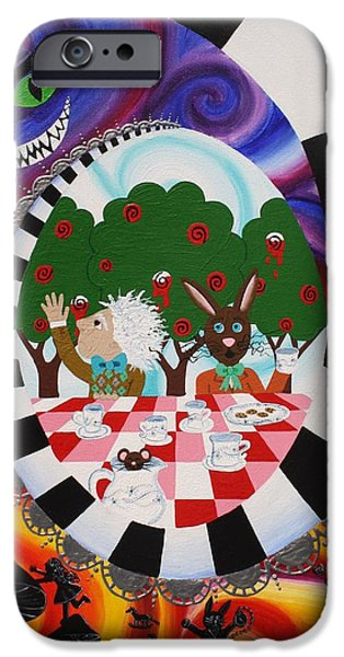 Mad Hatter iPhone Cases - Alice in Wonderland iPhone Case by Laura Wiesch
