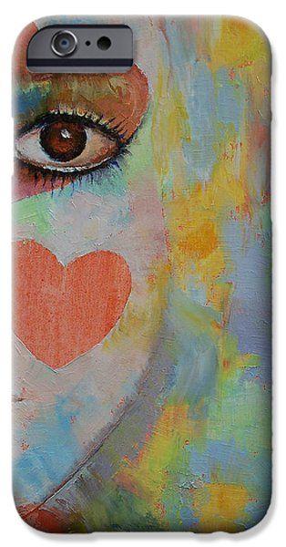 Alice iPhone Cases - Alice in Wonderland iPhone Case by Michael Creese