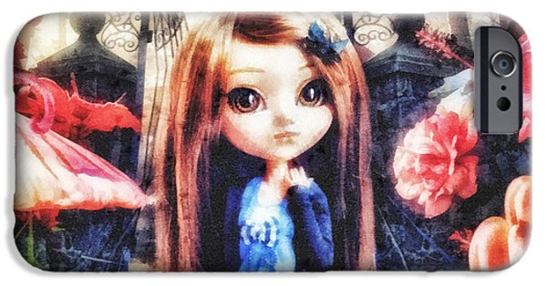 Fog Mist Mixed Media iPhone Cases - Alice in Wonderland iPhone Case by Mo T