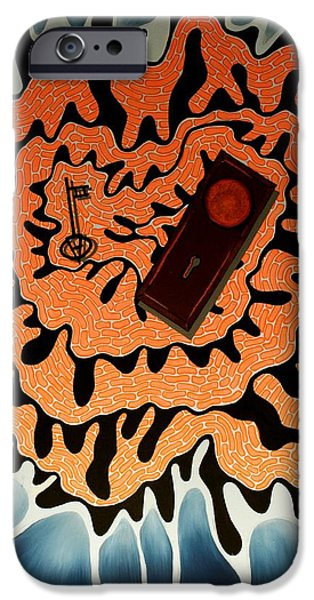 Recently Sold -  - Alice In Wonderland iPhone Cases - Alices Key iPhone Case by Angela Hansen