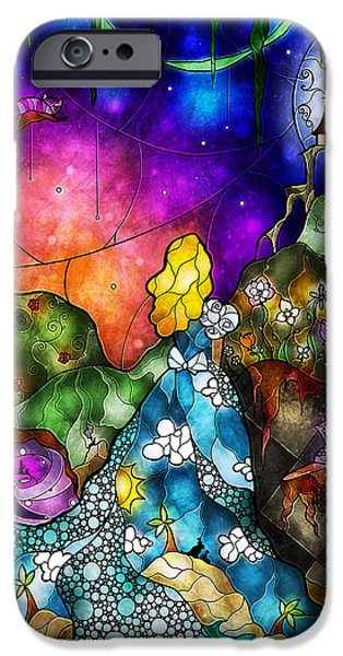 Alice iPhone Cases - Alices Wonderland iPhone Case by Mandie Manzano