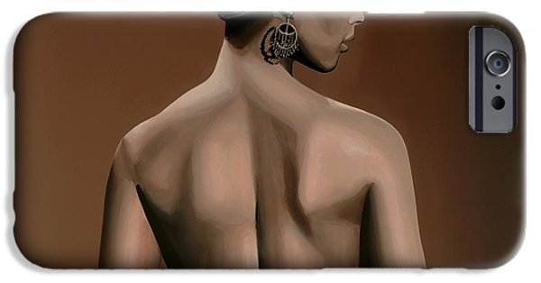Ground iPhone Cases - Alicia Keys  iPhone Case by Paul  Meijering