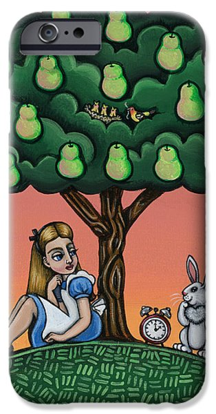 Pear Tree Paintings iPhone Cases - Alicia Time For Love iPhone Case by Victoria De Almeida