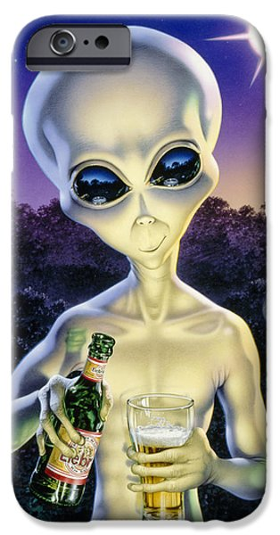 Property iPhone Cases - Alien Brew iPhone Case by Steve Read