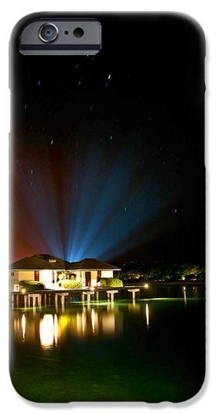 Alien Light at the Tropical Resort iPhone Case by Jenny Rainbow
