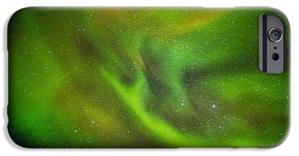 Lapland iPhone Cases - Alien Like Patterns In The Auroras iPhone Case by Panoramic Images