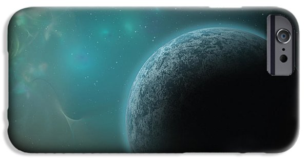 Constellations iPhone Cases - Alien Planet iPhone Case by Cheryl Heffner