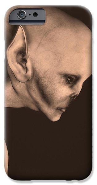 Alien Portrait  iPhone Case by Bob Orsillo