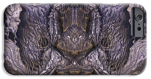 Abstract Digital iPhone Cases - Alien Shield Abstract Earth Art iPhone Case by Animated Sentiments