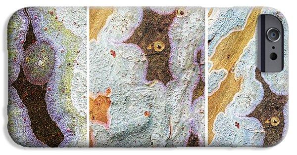 Alga iPhone Cases - Alien Triptych Landscape  iPhone Case by Rudy Umans