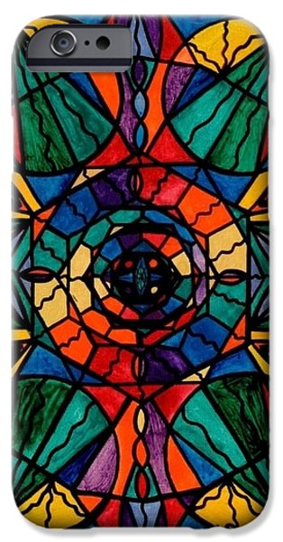 Mandalas iPhone Cases - Alignment iPhone Case by Teal Eye  Print Store