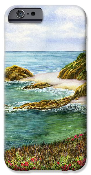 Beach iPhone Cases - Aliso Beach iPhone Case by Karen Wright