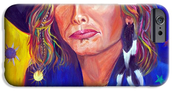 Steven Tyler Paintings iPhone Cases - Alive iPhone Case by To-Tam Gerwe