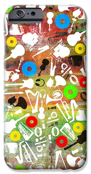 Animation iPhone Cases - All Abut Music 2 iPhone Case by Mark Ashkenazi