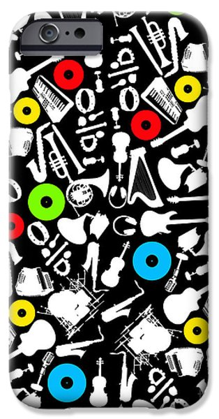 Animation iPhone Cases - All Abut Music  iPhone Case by Mark Ashkenazi