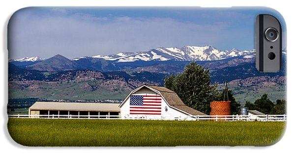 Old Glory iPhone Cases - All American Farm iPhone Case by Teri Virbickis