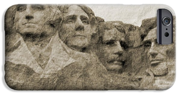 President Glass Art iPhone Cases - All American iPhone Case by Nena Trapp