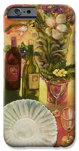 Table Wine iPhone Cases - All Are Gathered iPhone Case by Jen Norton