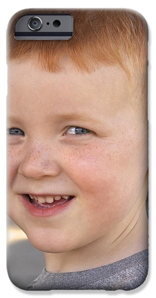 Young Pyrography iPhone Cases - All Boy iPhone Case by DUG Harpster