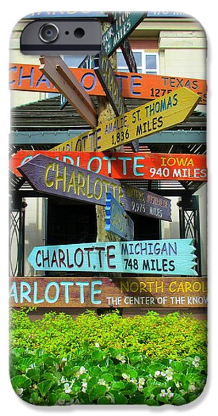 Uptown Charlotte iPhone Cases - All Charlottes iPhone Case by Randall Weidner