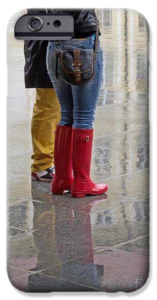 Rainy Day iPhone Cases - All Day Rain iPhone Case by Ann Horn