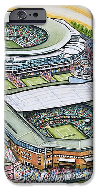 All England Lawn Tennis Club iPhone Case by D J Rogers