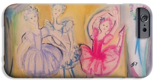 Bonding Paintings iPhone Cases - All for love ballet iPhone Case by Judith Desrosiers