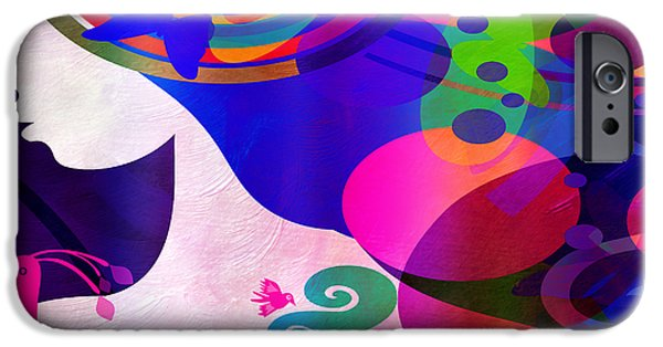 Amazing Digital Art iPhone Cases - All Her Wonder 1 iPhone Case by Angelina Vick