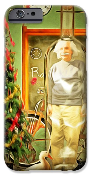 Relativity iPhone Cases - All I Want For Christmas Is Time In A Bottle 20140923 standard 3 to 4 proportion crop iPhone Case by Wingsdomain Art and Photography