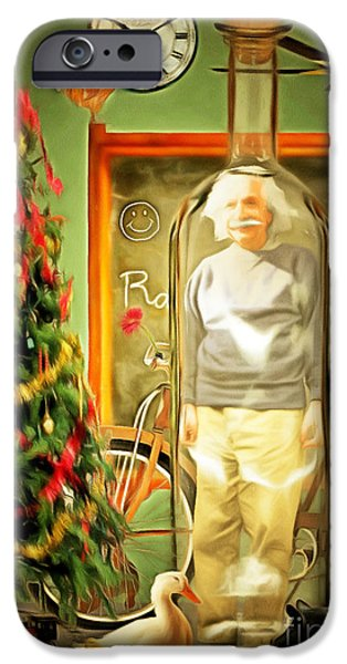Spoof iPhone Cases - All I Want For Christmas Is Time In A Bottle 20140923 iPhone Case by Wingsdomain Art and Photography